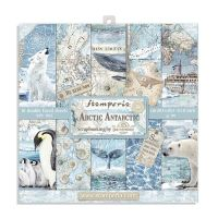 Stamperia 8x8 Paper Pad - Arctic Antarctic (10 Double Sided Sheets)