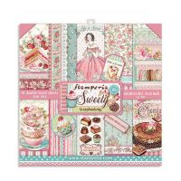 Stamperia 8x8 Paper Pad - Sweety (10 Double Sided Sheets)