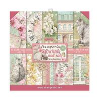 Stamperia Scrapbooking Mini Pad 10 sheets cm 20,3x20,3 Orchids and Cats
