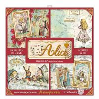 Stamperia 12x12 Paper Pad - Alice (22 Single Sided Sheets)