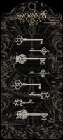 Graphic 45 Shabby Chic Ornate Metal Keys