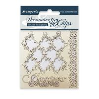 Stamperia Decorative chips cm. 9,5x9,5 Lace border