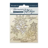 Stamperia Decorative chips cm. 9,5x9,5 Magic Winter Tales
