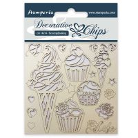 Stamperia Decorative chips cm. 14x14 Ice cream