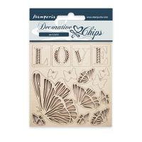 Stamperia Decorative chips cm 9,5x9,5 Love