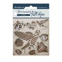 Stamperia Decorative chips cm 9,5x9,5 Spring