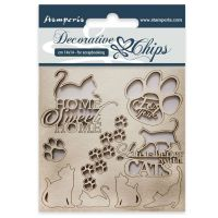 Stamperia Decorative chips cm 14x14 Cats