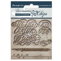 Stamperia Decorative chips cm 14x14 Alphabet