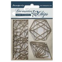Stamperia Decorative chips cm 14x14 Geometry
