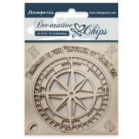 Stamperia Decorative chips cm 14x14 Compass