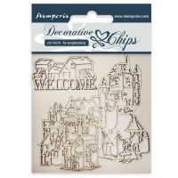 Stamperia Decorative chips cm 14x14 Welcome