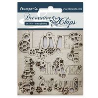 Stamperia Decorative chips cm 14x14 Sentiments