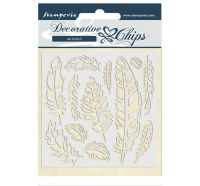 Stamperia Decorative chips 14x14 cm - Amazon feather