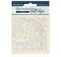 Stamperia Decorative chips 14x14 cm - Amazon parrot