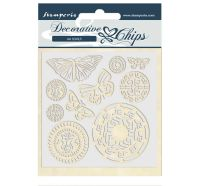 Stamperia Decorative chips 14x14 cm - Amazon butterfly tribal