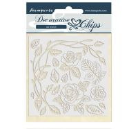 Stamperia Decorative chips 14x14 cm - Passion roses