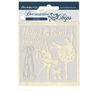 Stamperia Decorative chips 14x14 cm - Passion dancer