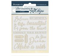 Stamperia Decorative chips 14x14 cm - Atelier des Arts quotes