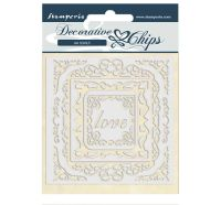 Stamperia Decorative chips 14x14 cm - Atelier des Arts love frames