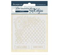 Stamperia Decorative chips 14x14 cm - Treasure together