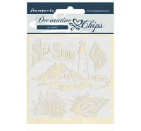 Stamperia Decorative chips 14x14 cm - Sea Shore