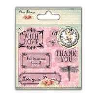 Santoro London Mirabelle 2 Clear Stamp - Sentiment