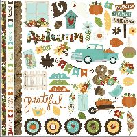 Simple Stories Pumpkin Spice Fundamentals Cardstock Stickers