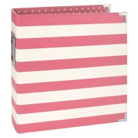 Simple Stories SN@P! 6x8 Designer Binder - Pink Stripe