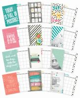 Simple Stories Carpe Diem - Planner Essentials Carpe Diem Monthly Inserts