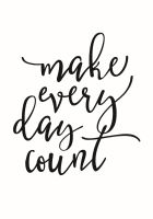 Simple Stories Carpe Diem Planner Essentials Make Every Day Count Black Planner Decal