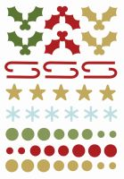 Simple Stories Classic Christmas Enamel Dots & Shapes