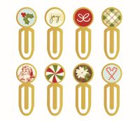 Simple Stories Classic Christmas Epoxy Metal Clips