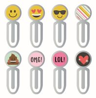 Simple Stories Carpe Diem - Emoji Love Epoxy Metal Clips