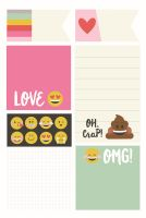 Simple Stories Carpe Diem - Emoji Love Sticky Notes