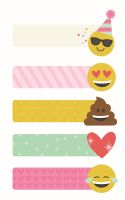 Simple Stories Carpe Diem - Emoji Love Page Flags