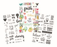 Simple Stories Faith Clear Stickers
