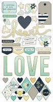 Simple Stories Simple Set -- Heart 6x12 Fundamental Stickers