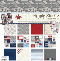 Simple Stories Simple Set -- Hero (6) 12x12 sheets, (2) 6x12 stickers