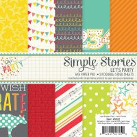 Simple Stories Let's Party 6x6 pad