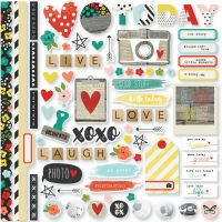 Simple Stories Life in Color Fundamentals Cardstock Stickers