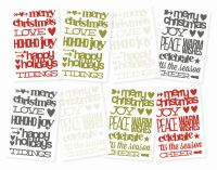Simple Stories DIY Christmas Sentiment Stickers