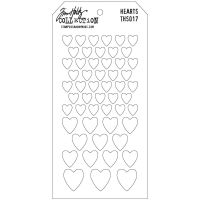 Stamper Anonymous Hearts Stencil - Layering Stencil