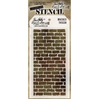 Stamper Anonymous Bricked Stencil - Layering Stencil