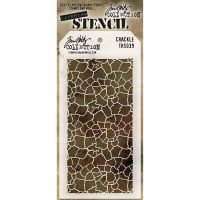 Stamper Anonymous Crackle Stencil - Layering Stencil