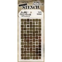 Stamper Anonymous Tiles Stencil - Layering Stencil