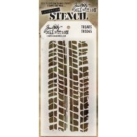 Stamper Anonymous Treads Stencil - Layering Stencil