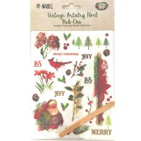49 and Market Vintage Artistry Noel Rub-Ons (Christmas Set)