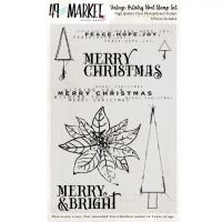 49 and Market Vintage Artistry Noel Stamp Set