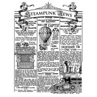 Stamperia Stamp cm 15x20 - Steampunk news