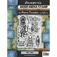 Stamperia Stamp cm. 15x20 - Octopus